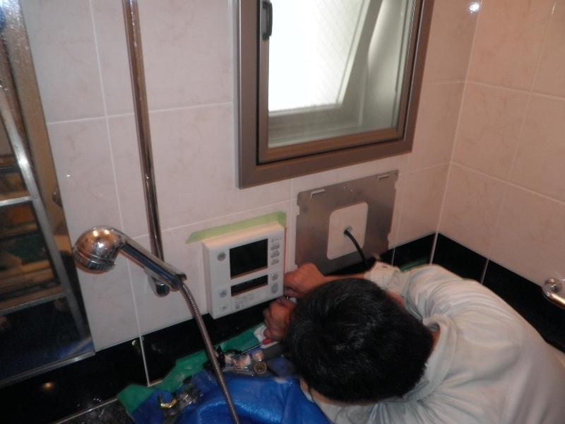 風呂リモコン一体型テレビ移設