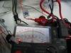 電線絶縁抵抗測定中