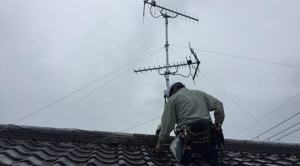家庭用UHFアンテナ建柱工事